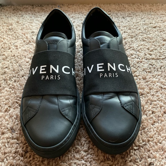 Givenchy Paris Strap Leather Sneakers
